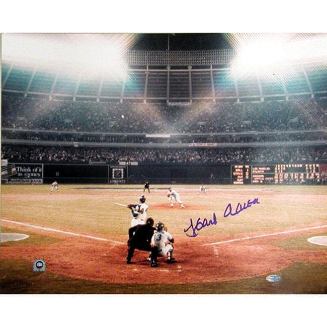 Steiner Sports Autographed Hank Aaron Photograph