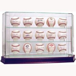 Steiner Sports Glass 15-ball Baseball Case