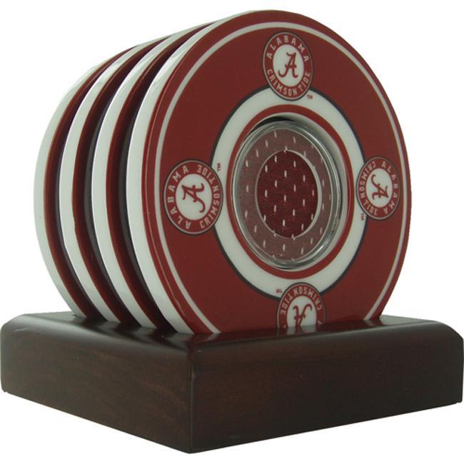 Steiner Sports Alabama Crimson Tide Coasters w/ Game Used Jersey (Set of 4)