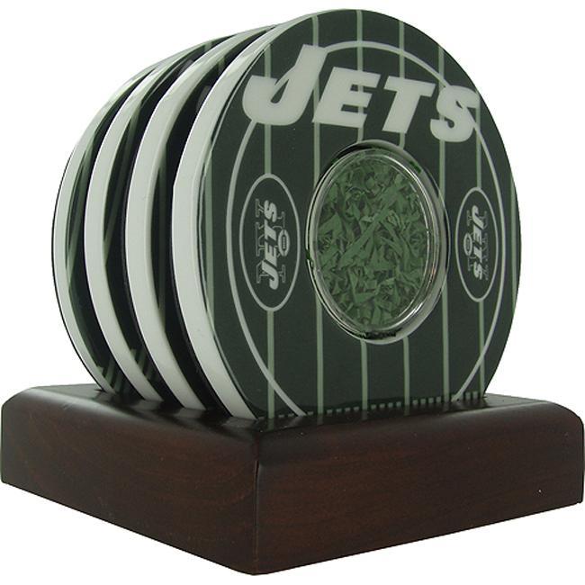 Steiner Sports New York Jets Logo Coasters w/ Yard Markers