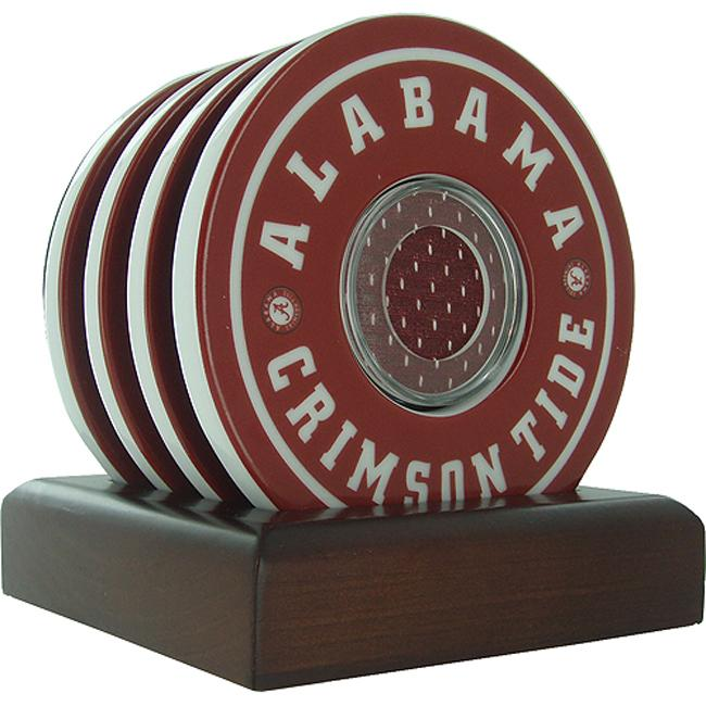 Steiner Sports Alabama Crimson Tide Logo Coasters w/ Game Used Jersey (Set of 4)