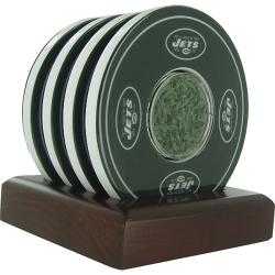 Steiner Sports NY Jets Logo Coasters with Holder