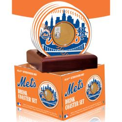 Steiner Sports New York Mets Coasters w/ Game Field Dirt (Set of 4)