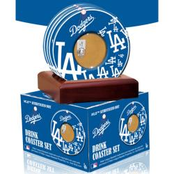 Steiner Sports Los Angeles Dodgers Coasters w/ Game Field Dirt (Set of 4)