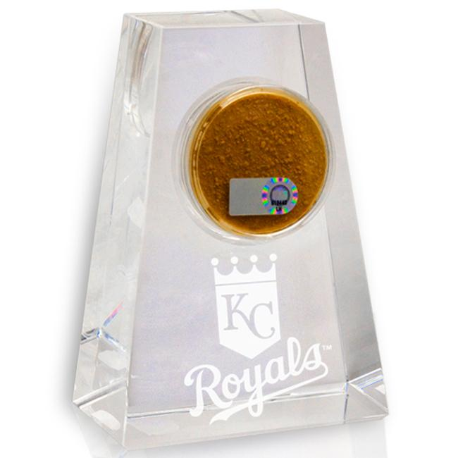 Kansas City Royals Tapered Crystal Paperweight w/ Game Field Dirt