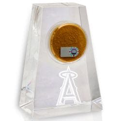 Los Angeles Angels Tapered Crystal Paperweight w/ Game Field Dirt
