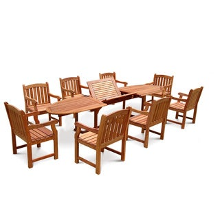 9 Piece English Garden Dining Set Overstock Shopping