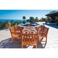 Outdoor 7-piece Rectangular Curvy Dining Set
