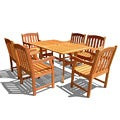 Outdoor 7-piece Rectangular Curvy Dining Set
