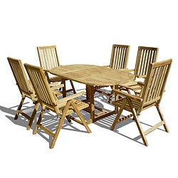 Teak Premium Quality Dining Set 7 Pieces