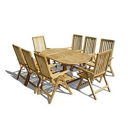 Teak Premium Quality Dining Set 9 Pieces