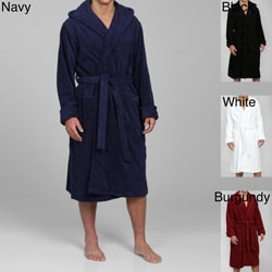 Alexander Del Rossa Men's Terry Cotton Hooded Bath Robe
