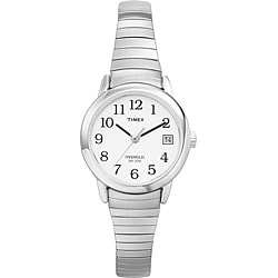 Timex Women's T2H371 Easy Reader Stainless Steel Expansion Band Watch