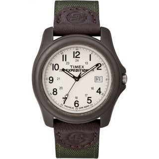 Timex Unisex T49101 Expedition Camper Brown Resin Case Green Nylon Strap Watch