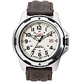 Timex Men's T49261 Expedition Rugged Field Shock Brown Leather Strap Watch