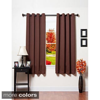 Grommet Top 64 inch Thermal Insulated Blackout Curtain Panel Pair