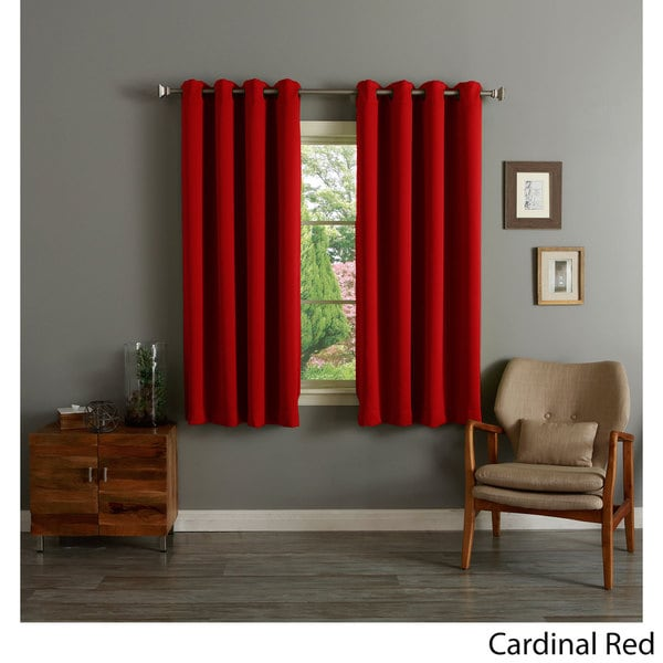aurora home grommet top thermal insulated blackout 64 inch curtain panel pair 12998488. Black Bedroom Furniture Sets. Home Design Ideas