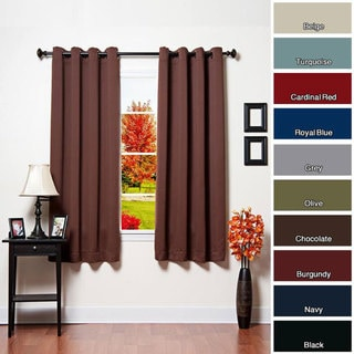 Grommet Top Thermal Insulated Blackout 64-inch Curtain Pair