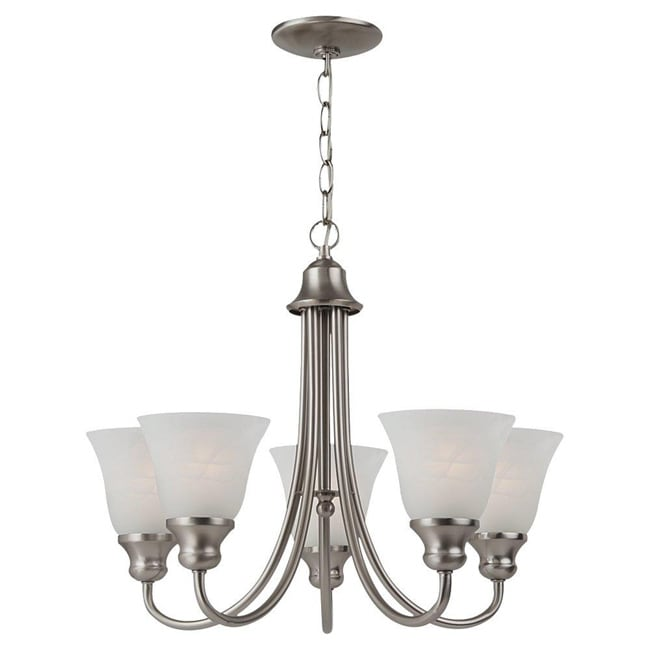 Windgate 5 Light Brushed Nickel Chandelier 12998537 Shopping Great Deals On