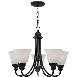 Windgate Energy Star Fluorescent 5-light Heirloom Bronze Chandelier