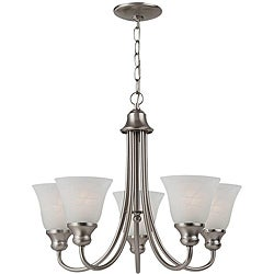 Windgate Energy Star Fluorescent 5-light Brushed Nickel Chandelier
