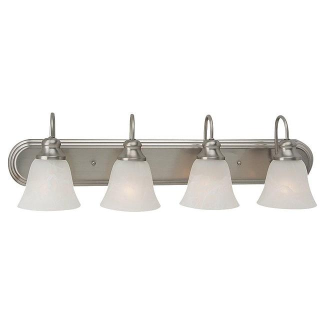 Windgate 4 Light Brushed Nickel Bath Wall Fixture