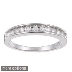 10k White Gold 1/4 to 1/2ct TDW Diamond Wedding Band (H-I, I2-I3)