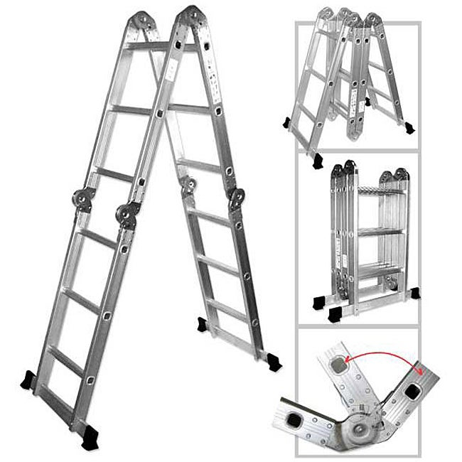 Oem Multipurpose Aluminum Folding Ladder Overstock