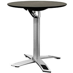 Baxton Studio Yang Black / Silver Folding Event Table (Standard Height)