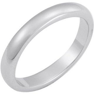 NEXTE Jewelry White Rhodium Overlay Terete Tapered Band (3 mm)