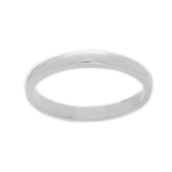 NEXTE Jewelry White Rhodium Overlay Terete Tapered Band (3 mm)