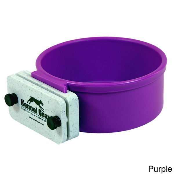Kennel Gear Spill-proof Mountable Locking Plastic Bowl System