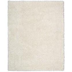 Nourison Splendor Hand-tufted White Rug (7'6 x 9'6)