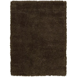 Nourison Splendor Hand-tufted Chocolate Rug (7'6 x 9'6)
