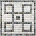 SomerTile 12x12-in Samoan Greek Key Perla 9/16-in Mural Porcelain Mosaic Sheet