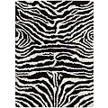 Nourison Splendor Hand-tufted Black/White Rug (5' x 7')