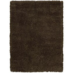 Nourison Splendor Hand-tufted Chocolate Rug (2'3 x 3'9)