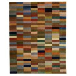 Handmade Rodeo Drive Patchwork Multicolor N.Z. Wool Rug (9'6 x 13'6)