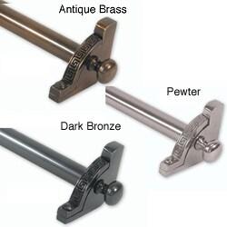 Brass Elegans 28.5-inch Solid Decorative Greek Key Design Tubular Stair Rod Set