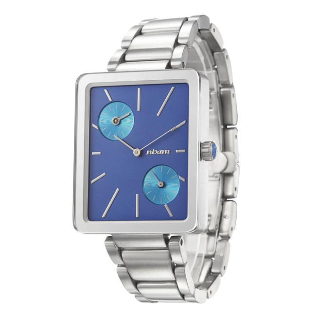 Nixon Men's 'The Ivy' Stainless Steel Dual Time Quartz Watch