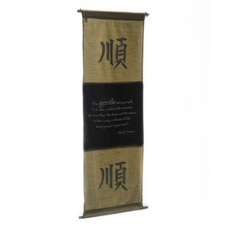 Cotton Gentleness Symbol and Max Ehrmann Quote Scroll (Indonesia)