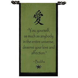 Cotton Love Symbol and Buddha Quote Scroll (Indonesia)