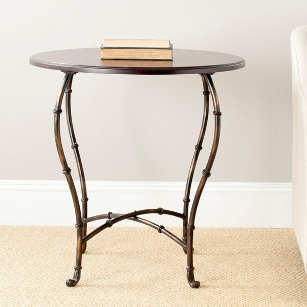 Safavieh Selma Brown Round Wood Table
