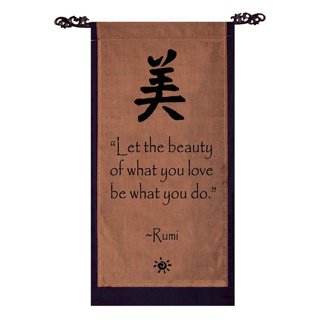 Cotton Beauty Symbol and Rumi Quote Scroll (Indonesia)