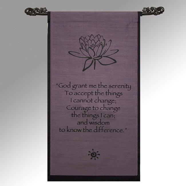 Cotton Lotus Design Serenity Prayer Scroll (Indonesia)