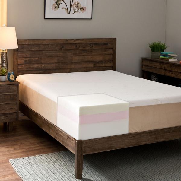 Comfort Dreams Lumbar Back Support 12-inch California King-size Memory Foam Mattress