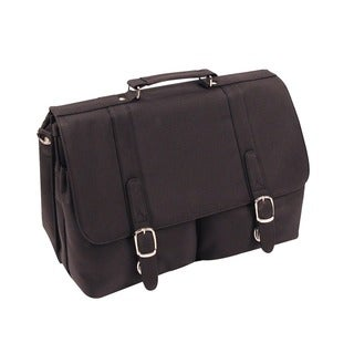 Two-pocket Flapover Laptop Briefcase