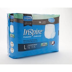 Inspire Extra Absorbency Protective Underwear Large (Case of 72)