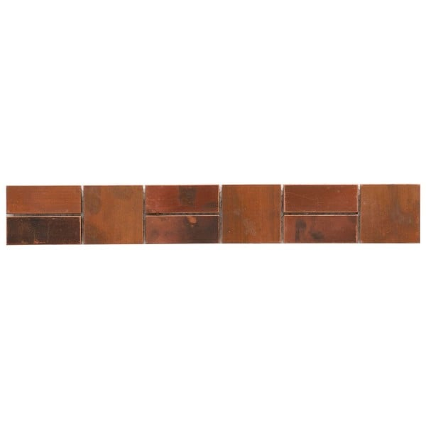 SomerTile 2x13-in Flat Copper Border Mosaic Tile (Pack of 12)
