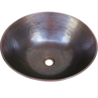 Vintage Dark Solid Copper 13-inch Vessel Sink